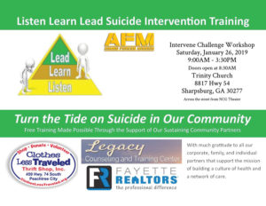 Listen-Learn-Lead Suicide Intervention Training set for Jan. 26