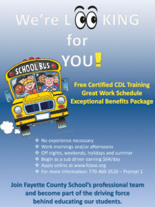 Bus Drivers needed in the Fayette County School System