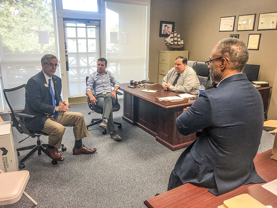 GA Sec. of State Raffensperger visits Fayette elections office