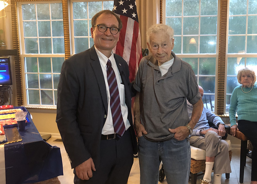 WWII vet honored with French Legion of Merit